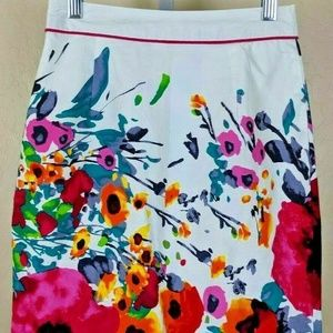 DOWNEAST Gorgeous Floral Skirt Women's Size 8